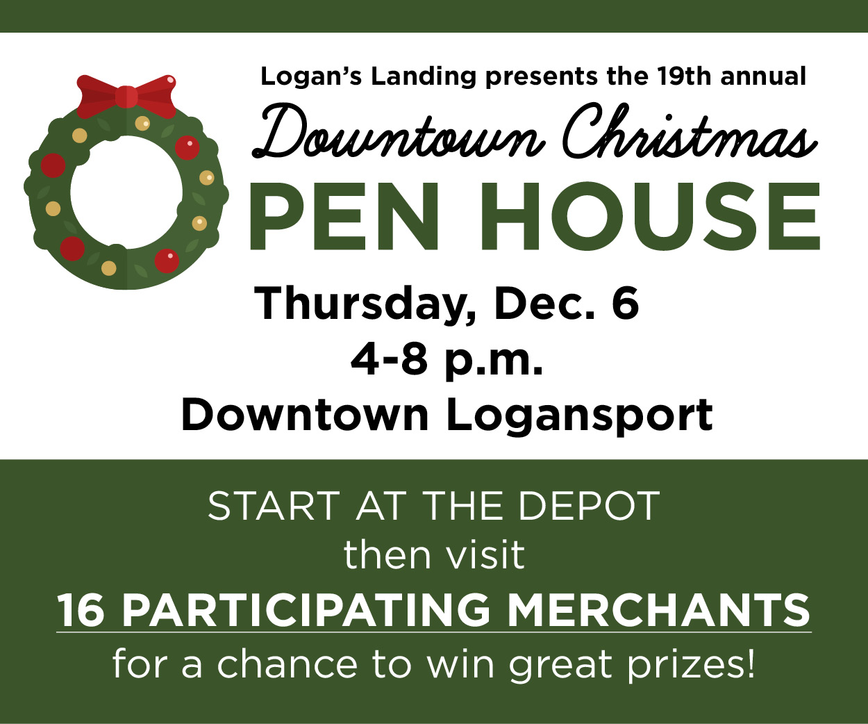 Logan's Landing Downtown Christmas Open House